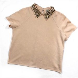 ASOS jeweled neck top